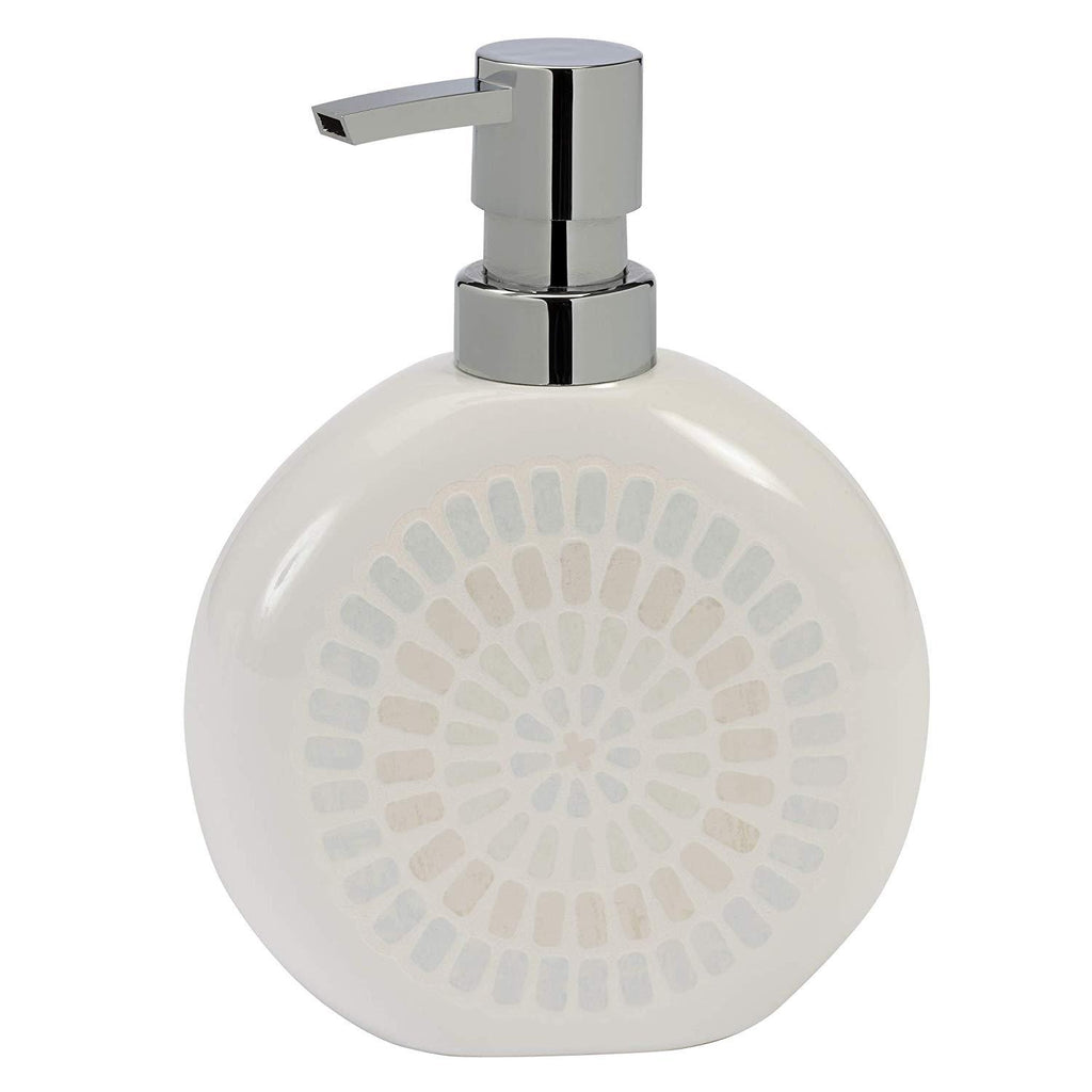 Elegant Bath - Bathroom Accessory, Ceramic Spa Bathroom Lotion Dispenser/Pump, Soap Dispenser Capri Design