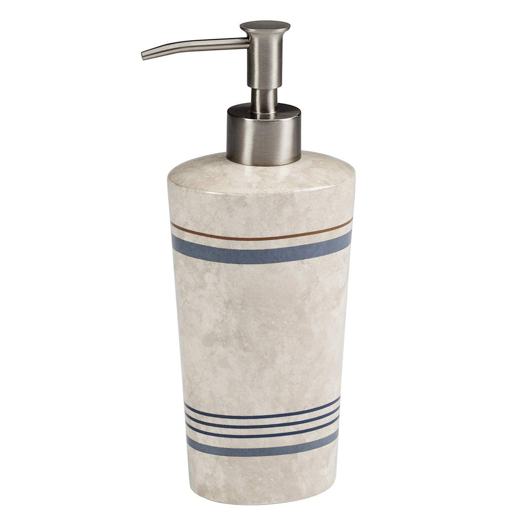 Elegant Bath - Bathroom Ceramic Lotion Dispenser/Pump Soap Dispenser/Pump, Ticking Stripe Design