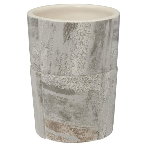 Elegant Bath - Ceramic Bathroom Tumbler/Holder, Quarry Design