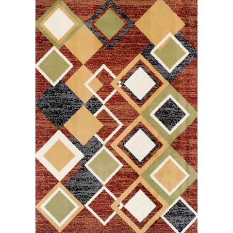 Achim Home Furnishings - Ferrera Collection Area Rug - Argyle