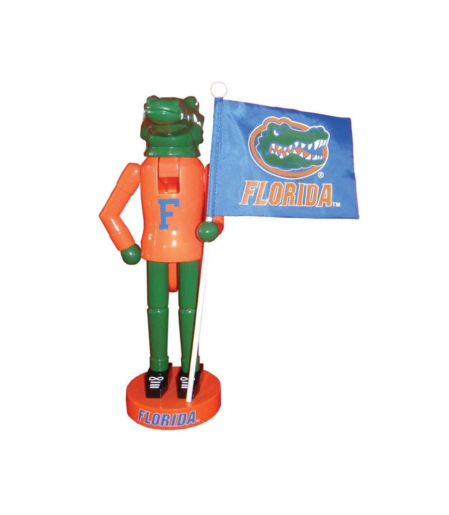 "Festive College Football 12"" Florida Mascot & Flag Nutcracker"