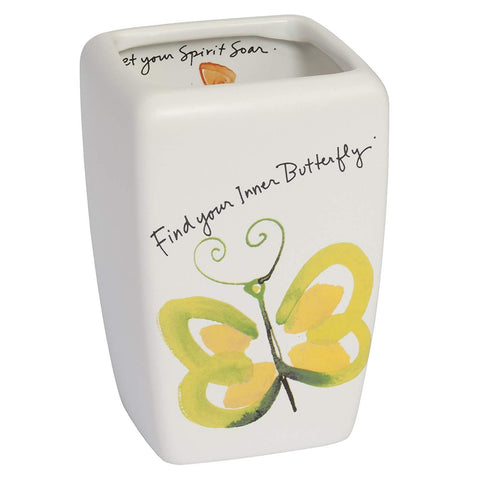 Creative Bath - Bathroom Accessories Sets Ceramic Tumbler - Kathy Davis Flutterby