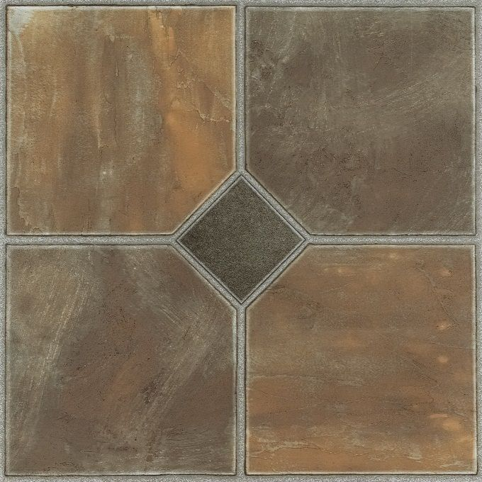 Achim Home Furnishings - Nexus Rustic Slate 12x12 Self Adhesive Vinyl Floor Tile - 20 Tiles/20 sq. ft.