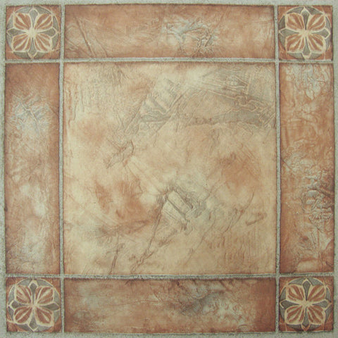 Achim Home Furnishings - Nexus Spanish Rose 12x12 Self Adhesive Vinyl Floor Tile - 20 Tiles/20 sq. ft.