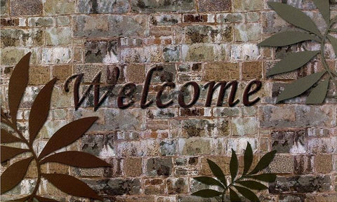 Achim Home Furnishings - Welcome Palms Outdoor Rubber Entrance Mat 18 in. x 30 in.