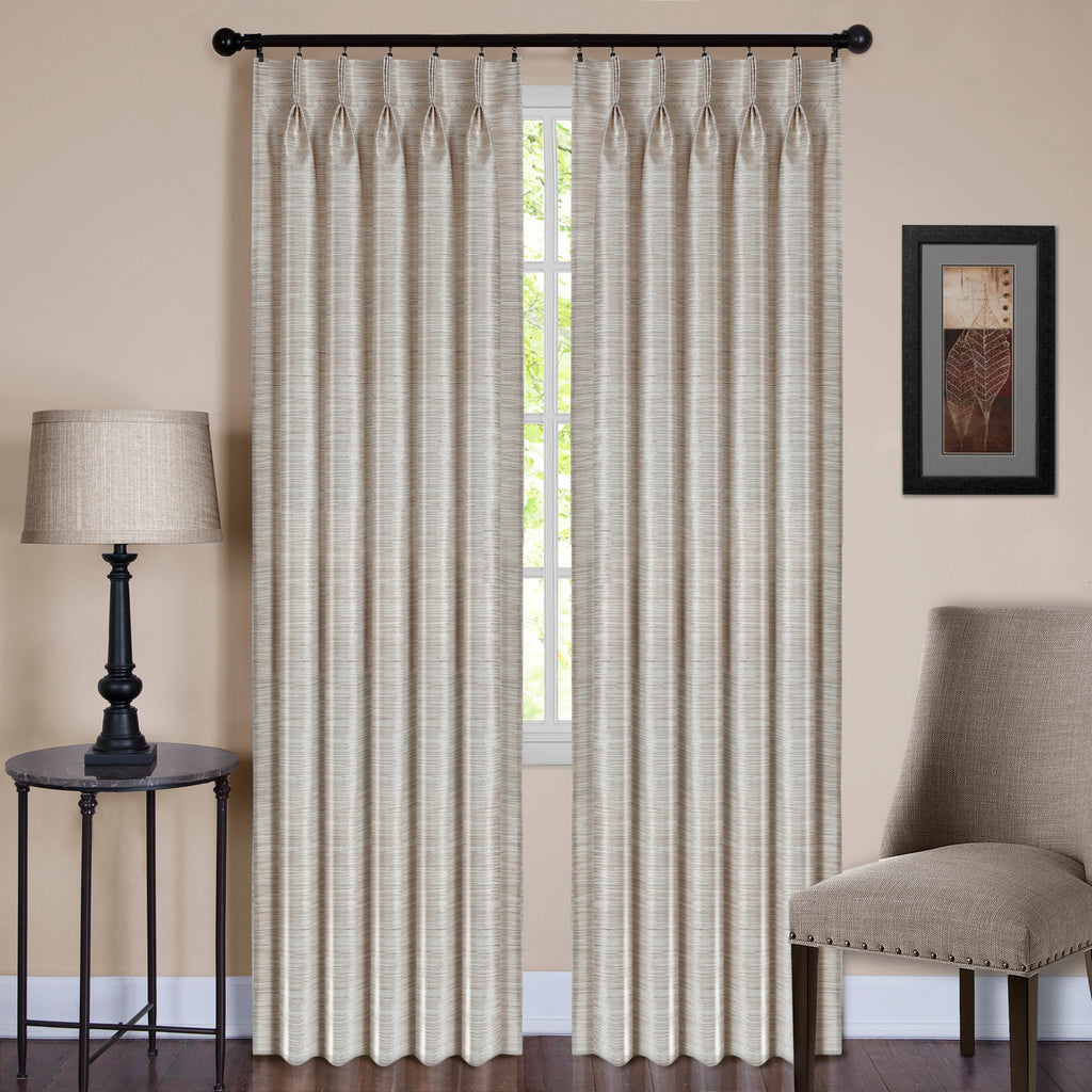 "Achim Home Furnishings - Parker Pinch Pleat Window Curtain Panel - 34"" x 63"" - Ivory"