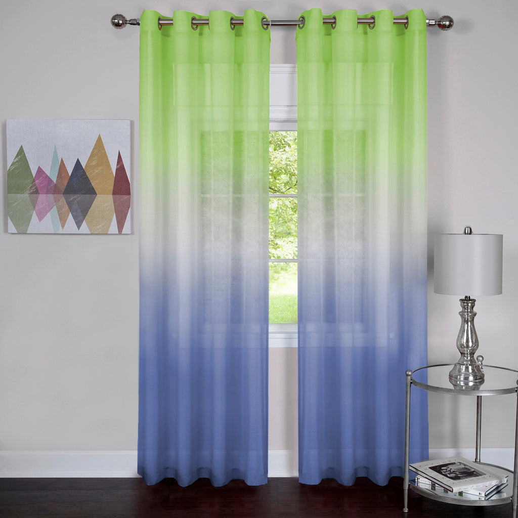 "Achim Home Furnishings - Rainbow - Single Grommet Window Curtain Panel - 52"" x 84"" Green"