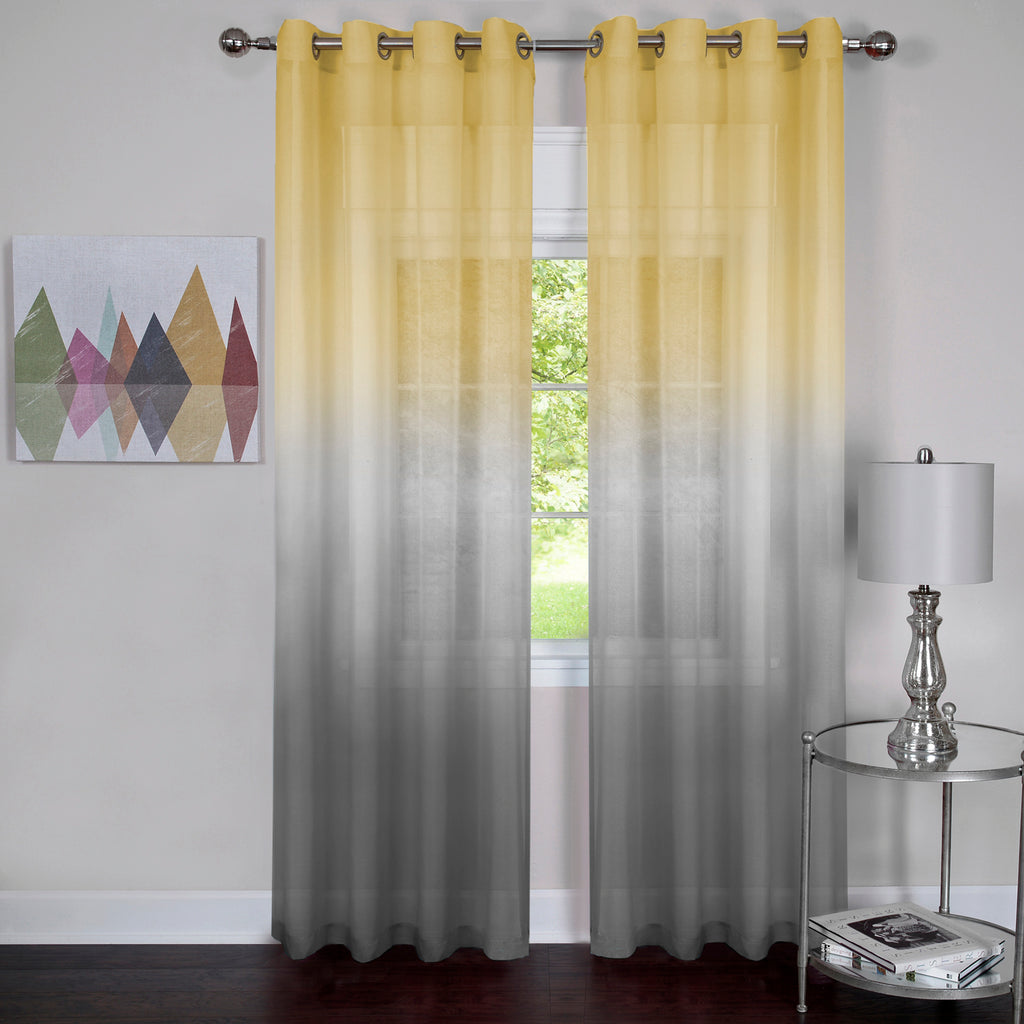 "Achim Home Furnishings - Rainbow - Single Grommet Window Curtain Panel - 52"" x 84"" Grey"