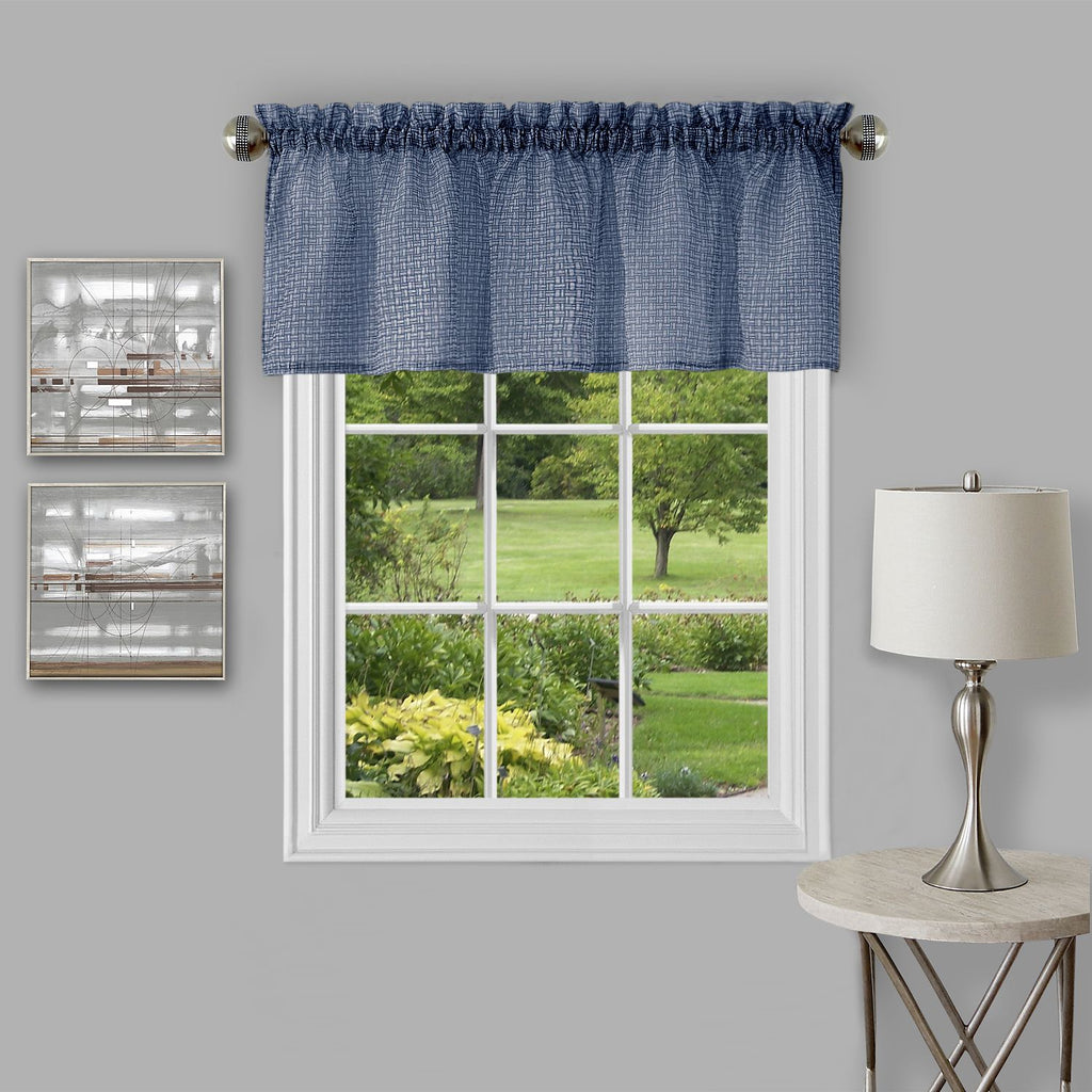 "Achim Home Furnishings - Richmond Window Curtain Valance - 58"" x 14"" - Navy"