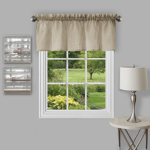 "Achim Home Furnishings - Richmond Window Curtain Valance - 58"" x 14"" - Tan"