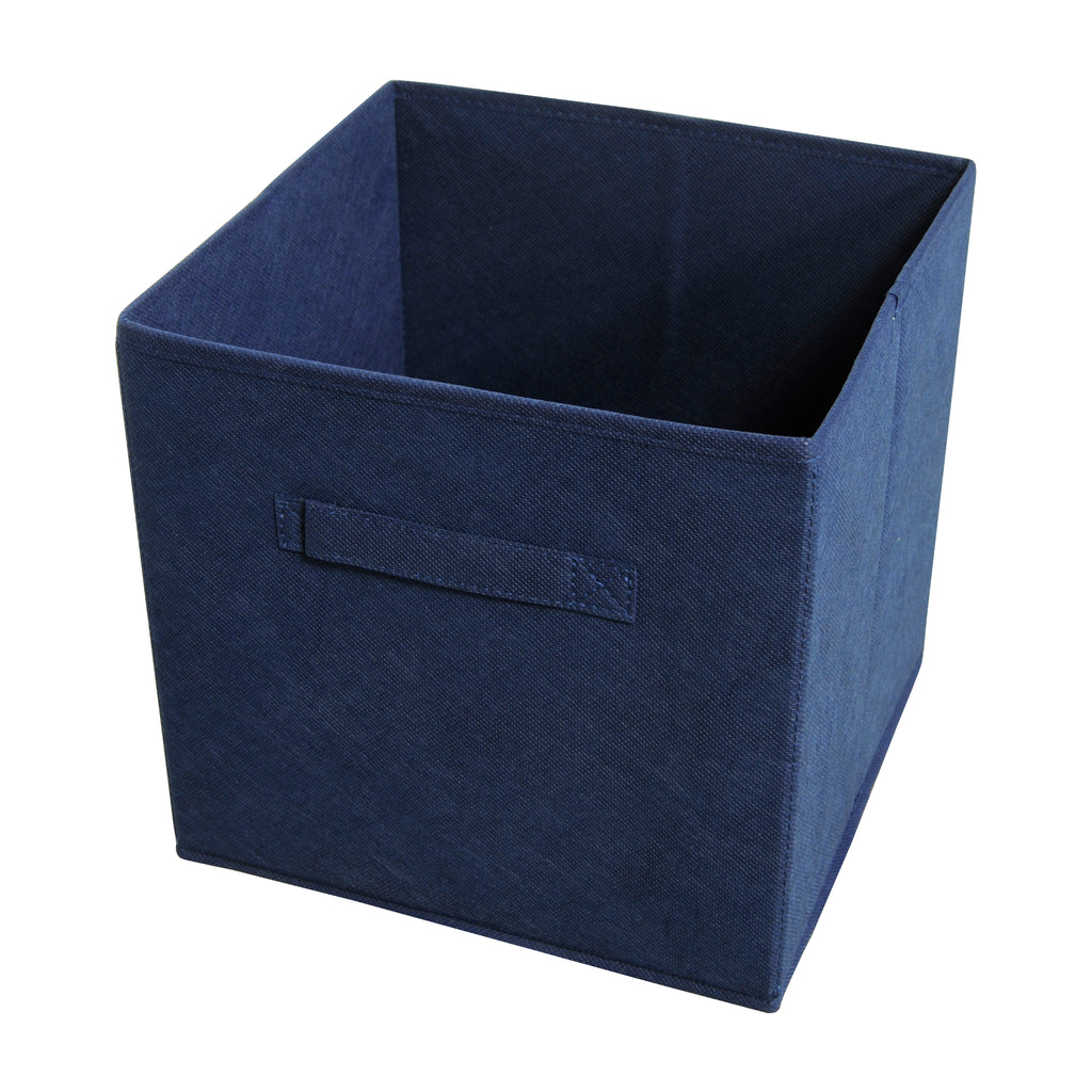 Achim Home Furnishings - Collapsible Storage Bins - Navy - 4 Bins Per Pack