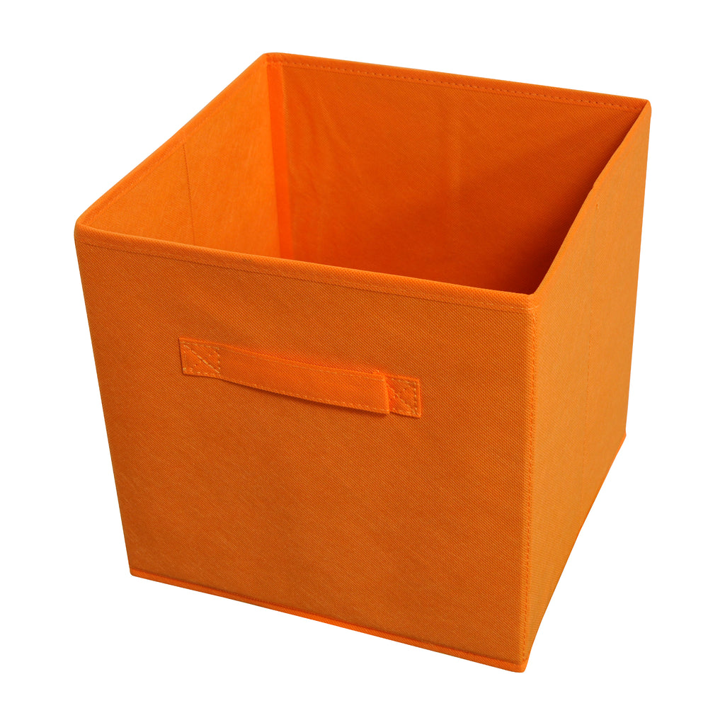 Achim Home Furnishings - Collapsible Storage Bins - Orange - 4 Bins Per Pack
