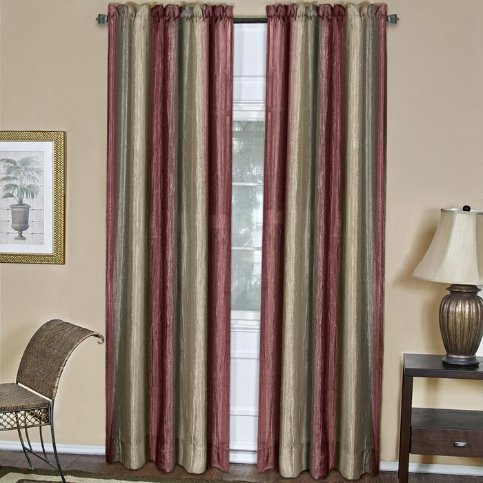 "Achim Home Furnishings - Ombre Window Curtain Panel 50"" x 63"" - Burgundy"