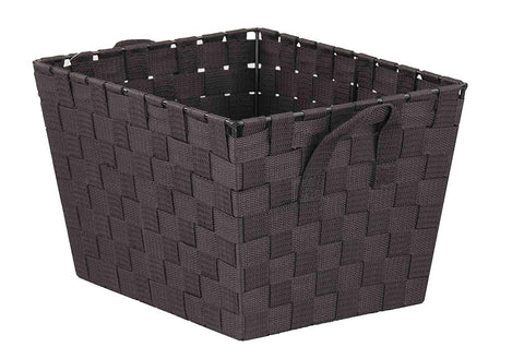 naturally home - Durable Closet/Nursery Woven Strap Storage Bin/Basket, 12 x 10 x 8 Inches