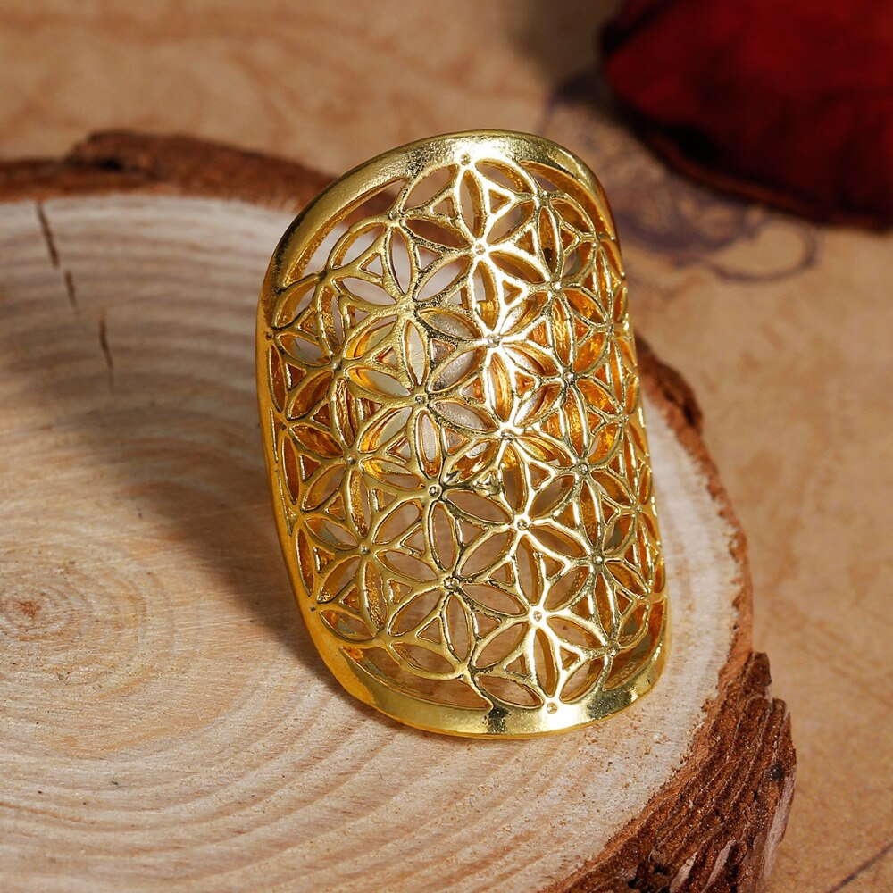 <transcy>Ring - Flower of Life</transcy>
