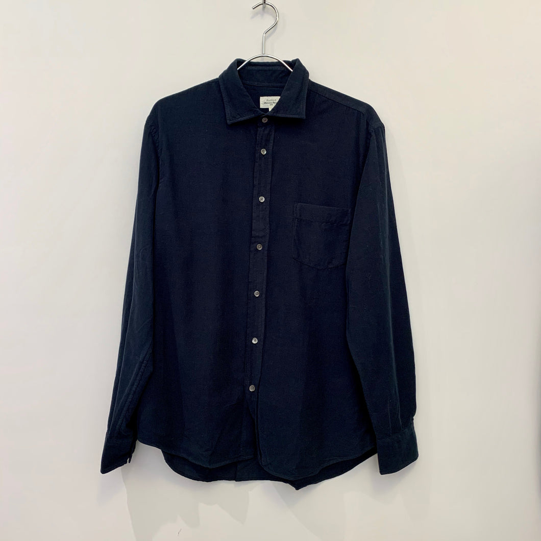 Navy Needlecord Shirt
