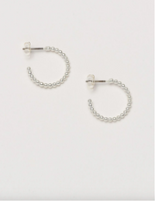 Load image into Gallery viewer, Beaded Hoop Earring - Silver
