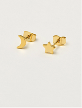Load image into Gallery viewer, Mixed Sun and Moon Studs - Gold