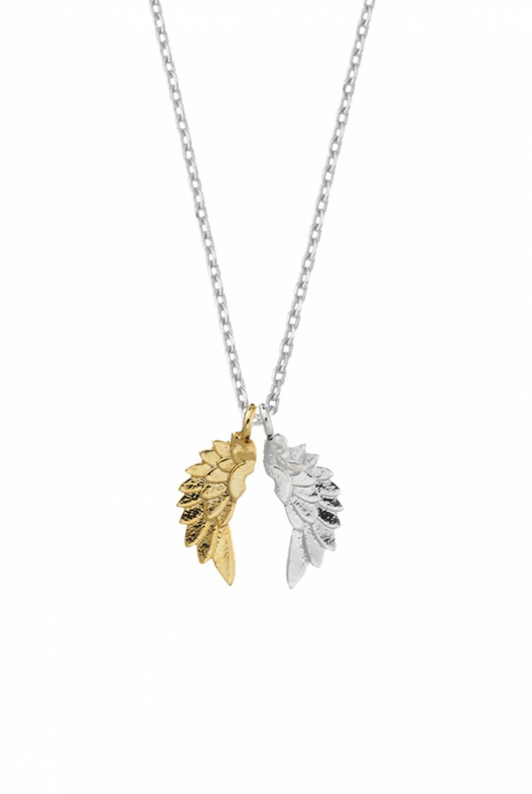 Silver & Gold Wings Necklace