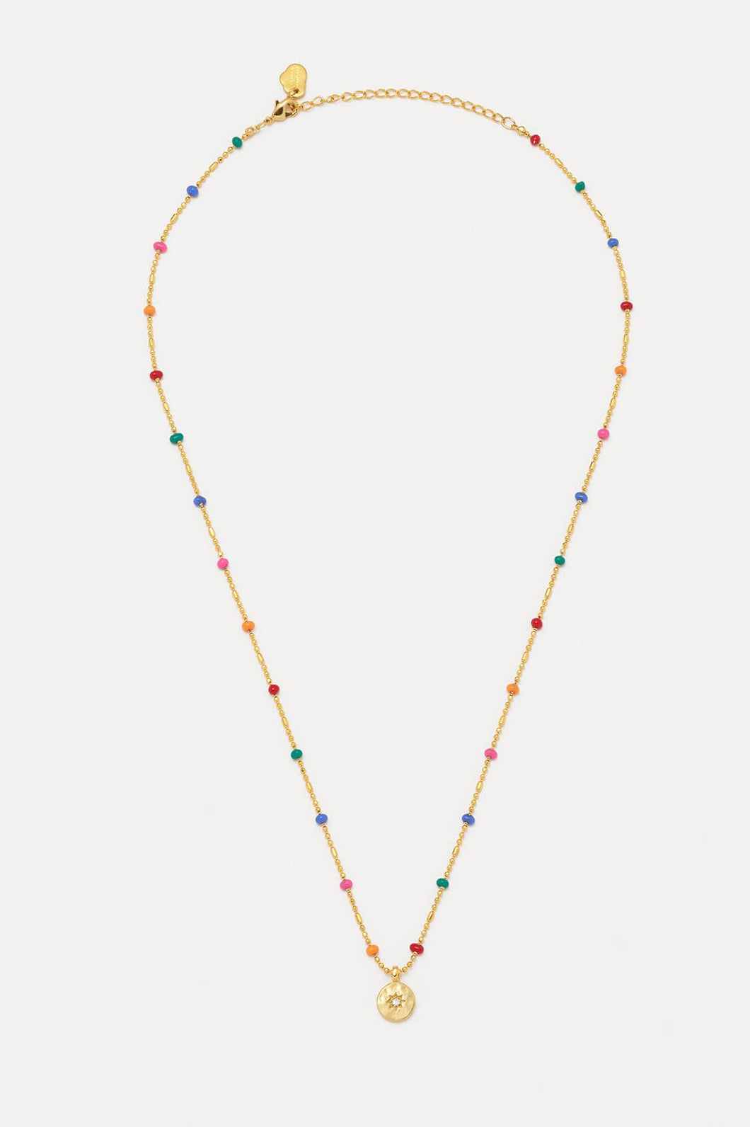 Gold Rainbow Coin Necklace