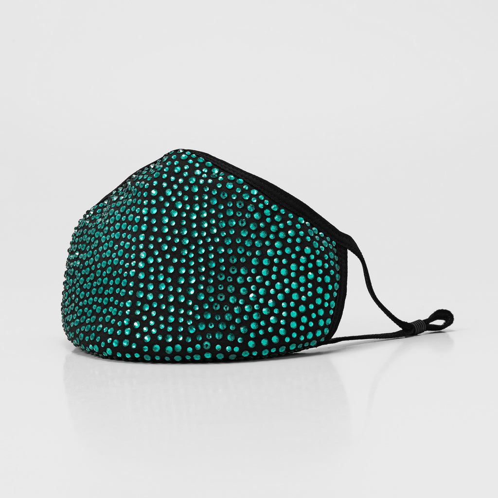 NEW: EMARALD GREEN DIAMOND FASHION MASK