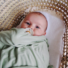 Load image into Gallery viewer, Swaddle Blanket & Knotted Beanie Pistachio
