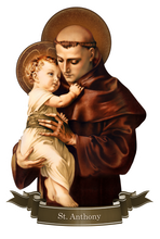 Load image into Gallery viewer, St. Anthony of Padua Decal