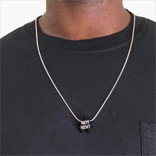 Load image into Gallery viewer, Not Next Black and Silver Necklace
