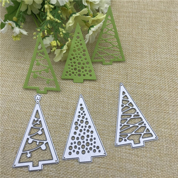 Christmas tree Cutout Metal Cutting Dies Stencils Die Cut for DIY Scrapbooking Album Paper Card Embossing