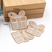 50PCS  DIY Kraft Tags Merry Christmas Labels Gift Wrapping Paper Hang Tags Santa Claus Paper Cards Christmas Party Supplies