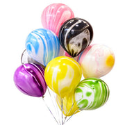 Rainbow Number Foil Balloons