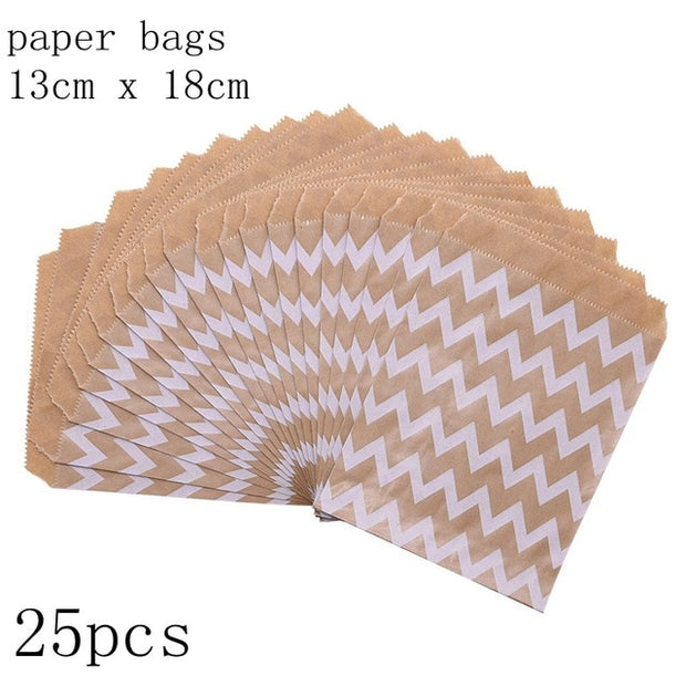 25pcs/pack 18cm Gift Bags Paper Pouch Rose