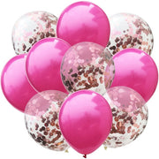 10pcs/lot Mix Rose Gold Confetti Balloons