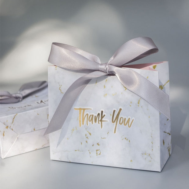 New Creative Grey Marble Gift Bag Box for Party