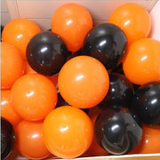 Halloween Black Orange Latex Balloon