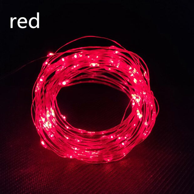10M LED Garland String DIY Fairy Lights for Glass Craft Bottle Valentines Day Gifts Wedding Birthday Party Decoration Wedding