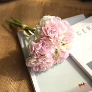 pink silk hydrangeas artificial flowers wedding flowers for bride hand silk blooming peony fake flowers white home decoration