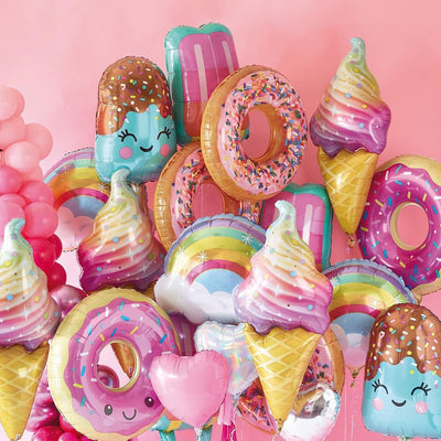 Pink Donut Lip Ice Cream Birthday Decoration