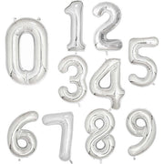 30 40inch Big Foil Birthday Balloons Helium Number Balloons Happy Birthday Party Decorations