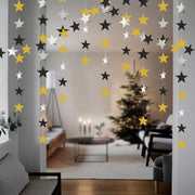 4m Mirror Paper Star Round Garland Flash Banner