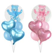 4D Transparent Baby Boy Girl Blue Pink Bubble