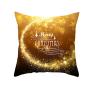 Christmas Cushion Cover Xmas PillowCase Christmas Decorations for Home Navidad Decors Elk and Snowflake Happy New Year 2020 2021