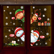 Large Size Merry Christmas Wall Stickers Fashion Santa Claus Window Room Decoration PVC Vinyl New Year Home Decor Removable