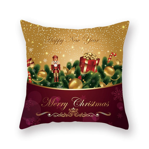 Christmas Xmas Red PillowCase Tree Decoration Santa Claus Cushion Cover Christmas Decorations for Home Decor Noel Natal 2021
