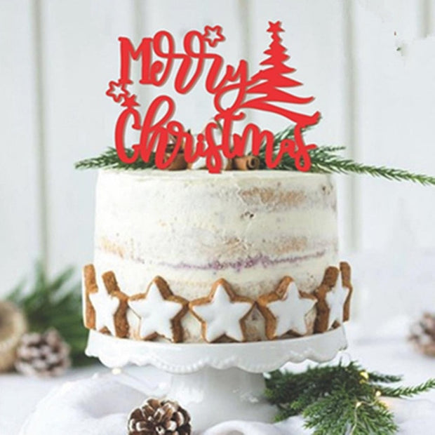 Merry Christmas Cake Topper decorations
