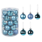 34pcs christmas ornament for xmas home decor light plastic balls natal deco one barrel ball 4cm 2021 hanging pendent new year