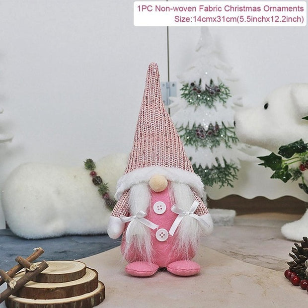 Christmas Faceless Doll Merry Christmas Decor for Home Xmas Gifts Christmas 2020 Ornaments Navidad Happy New Year 2021