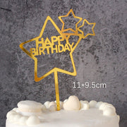 Happy Birthday Cake Topper Acrylic Letter