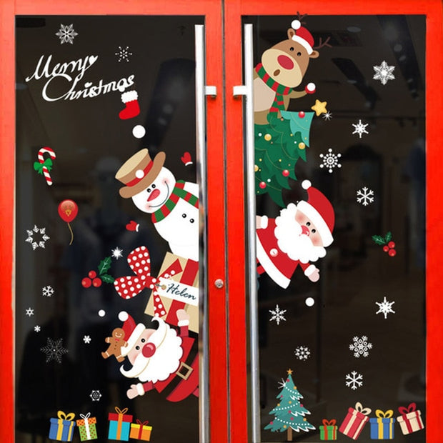 27Pcs Christmas Snowflake Window Sticker Christmas Wall Stickers Room Wall Decals Christmas Decorations for Home New Year 2021