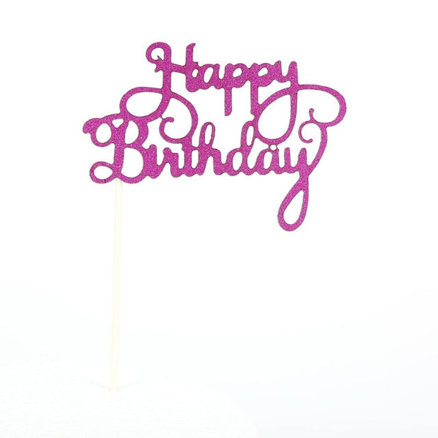 10pcs Cake Decoration Happy Birthday Glitter